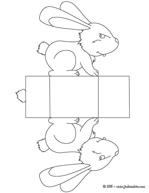 Coloriage boites de paques a colorier et decouper boite paques lapin a colorier et decouper - Coloriage a decouper ...