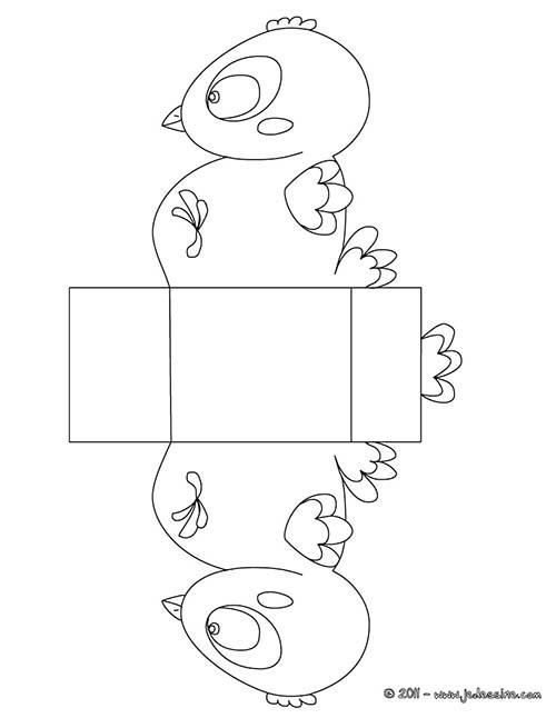 Coloriage boites de paques a colorier et decouper boite paques poussin a colorier et decouper - Coloriage a decouper ...