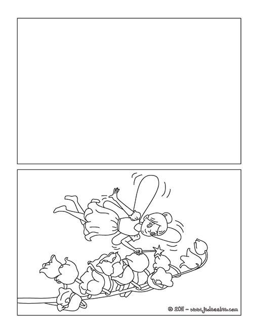 Coloriage cartes a imprimer pour le 1er mai coloriage fee - Image muguet 1er mai gratuit ...