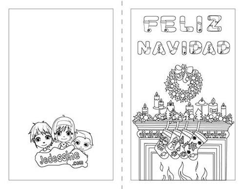 Cartes-de-voeux-de-Noel-a-colorier-Feliz-Navidad-en-espagnol.jpg