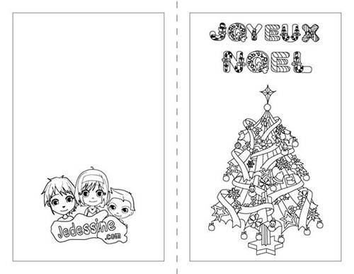 Coloriage cartes de voeux de noel a colorier joyeux noel en espagnol - Sapin de noel en espagnol ...
