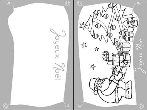 Coloriage cartes de voeux de noel a colorier joyeux noel en espagnol avec une - Sapin de noel en espagnol ...