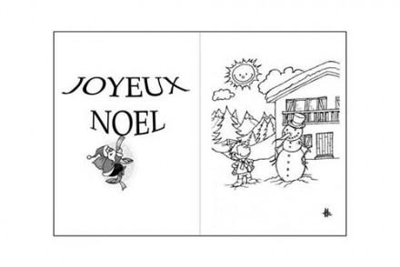 Cartes-de-voeux-de-Noel-a-colorier-Le-bonhomme-de-neige-et-le-petit-garcon.jpg