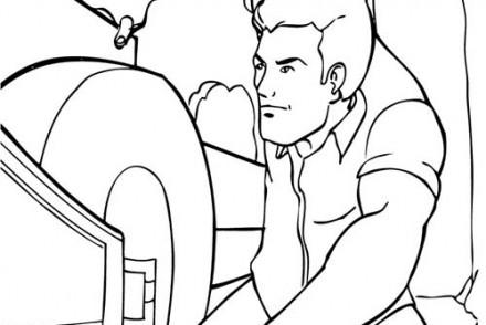 Coloriage-BATMAN-Bruce-Wayne-examine-une-voiture.jpg