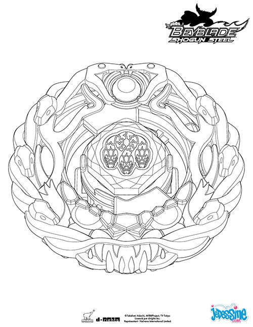 Coloriage beyblade burst meilleures id es coloriage pour for Beyblade shogun steel coloring pages