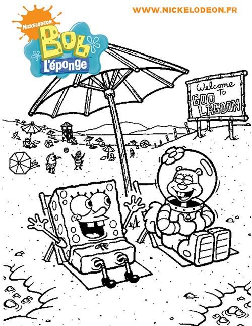 Coloriage-BOB-LEPONGE-A-la-plage-avec-Sandy.jpg