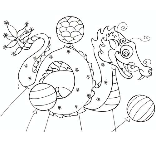 Coloriage carnaval chinois dragon carnaval chinois a colorier - Coloriage chine ...