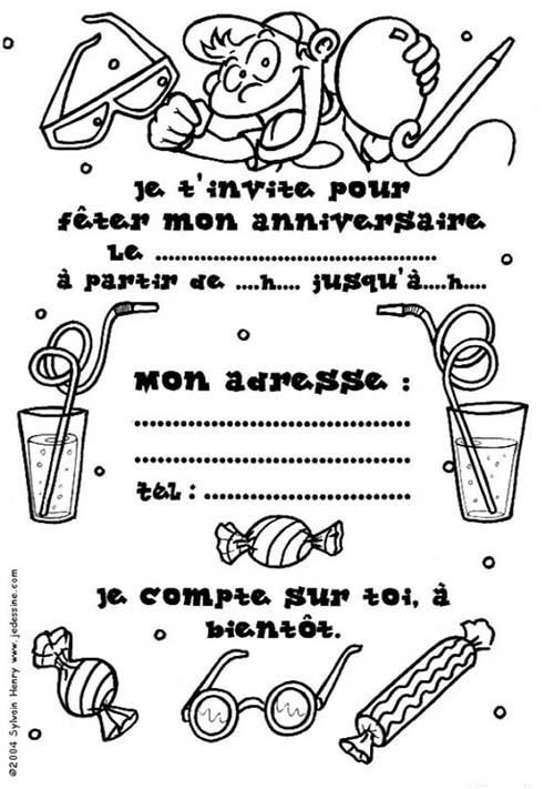 Coloriage carte anniversaire coloriage de fees - Carte anniversaire coloriage ...