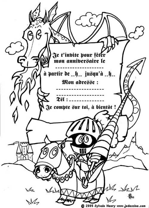 Coloriage-CARTE-ANNIVERSAIRE-Coloriage-dun-dragon-et-dun-chevalier.jpg