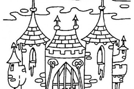 Coloriage enfants deguises pour halloween coloriage de teo - Coloriage de chateau ...