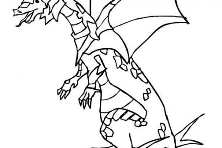 Coloriage gratuit chateau coloriage d 39 un dragon arme - Dessin armure ...