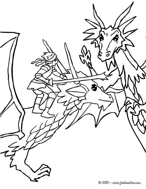 Coloriage-CHEVALIERS-ET-DRAGONS-Dragon-et-chevalier-attaquent-un-mechant-dragon.jpg