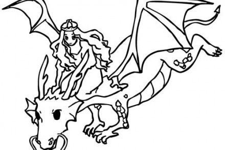 Coloriage-CHEVALIERS-ET-DRAGONS-Dragon-et-princesse.jpg