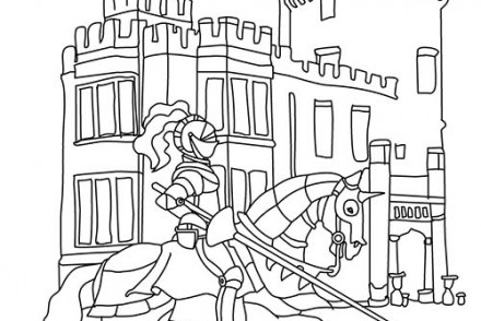 Coloriage-CHEVALIERS-ET-DRAGONS-Le-chevalier-arrive-au-chateau.jpg