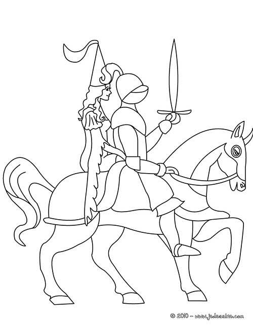 Coloriage-CHEVALIERS-ET-DRAGONS-Le-chevalier-et-sa-Princesse.jpg