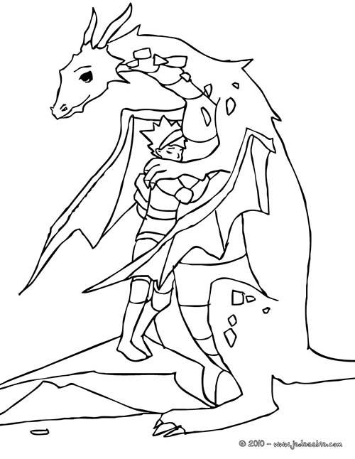 Coloriage-CHEVALIERS-ET-DRAGONS-Le-chevalier-fait-un-calin-au-dragon.jpg
