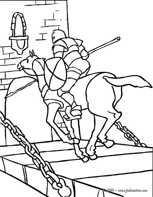 Coloriage-CHEVALIERS-ET-DRAGONS-Le-chevalier-franchit-le-pont-levis.jpg