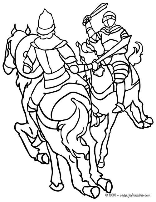 Coloriage-CHEVALIERS-ET-DRAGONS-Rencontre-de-chevaliers.jpg