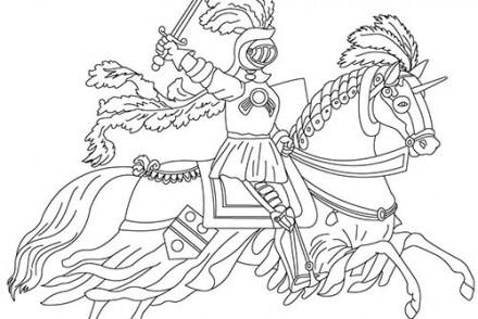 Coloriage mike le chevalier dragon flammeche a colorier - Dessin armure ...