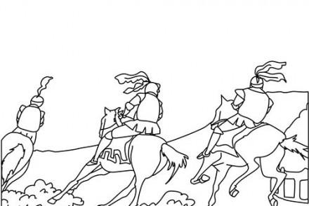 Coloriage-CHEVALIERS-ET-DRAGONS-les-chevaliers-et-leurs-chevaux.jpg