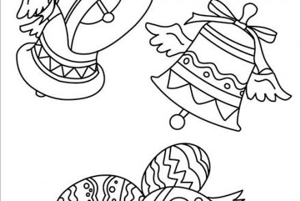 Pin coloriage des cloches de no l on pinterest - Dessin cloche ...