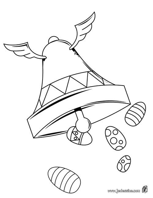 Coloriage cloches de paques coloriage d 39 une cloche et des - Dessin d une cloche ...