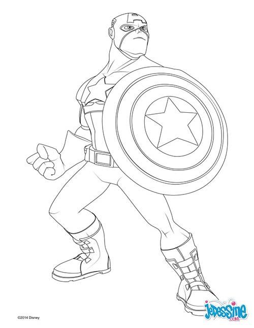 Coloriage disney avengers captain america - Dessin captain america ...