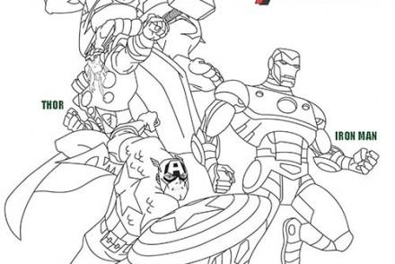 Coloriage-DISNEY-Avengers-Hulk-Iron-Man-Captain-America-et-Thor.jpg