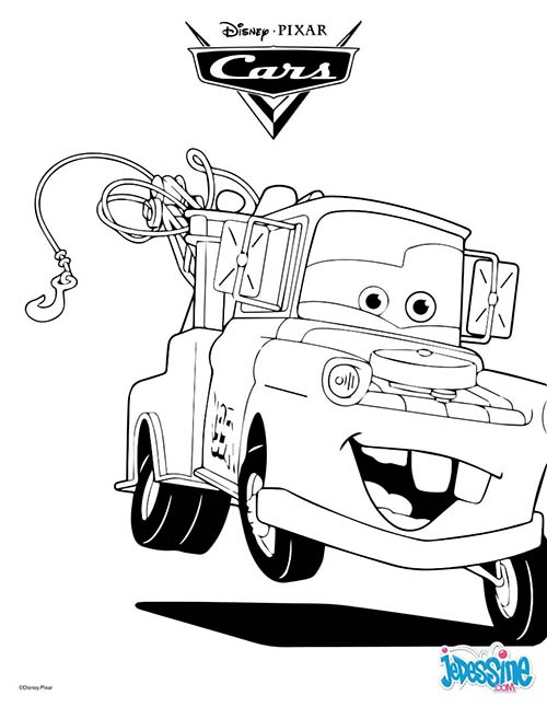 Coloriage disney cars martin la depanneuse - Coloriage la cars ...