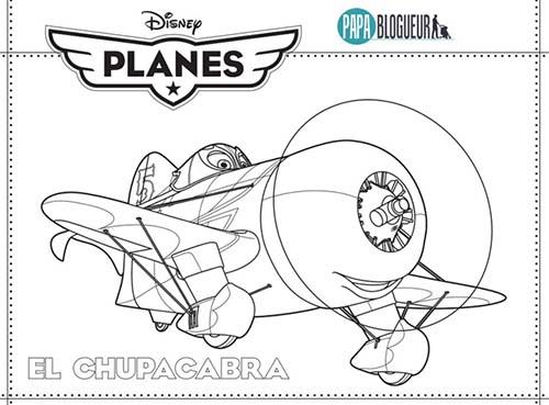 Coloriage disney planes el chupacabra - Planes coloriage ...