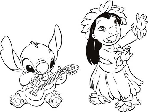 coloriage disney stitch et lilojpg