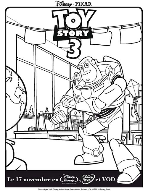 Coloriage DISNEY Toy Story 3 Buzz l\'eclair