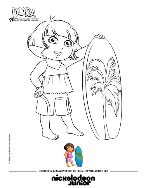 Coloriage-DORA-Coloriage-DORA-fait-du-surf.jpg