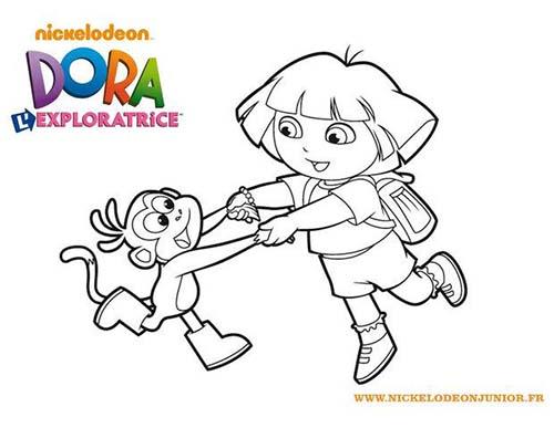 Coloriage-DORA-Coloriage-de-Dora-et-Babouche-qui-font-la-ronde.jpg