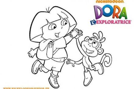 Coloriage-DORA-Coloriage-de-Dora-et-Babouche-qui-se-tapent-dans-la-main.jpg