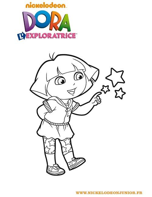 Coloriage-DORA-Coloriage-de-Dora-et-les-etoiles.jpg
