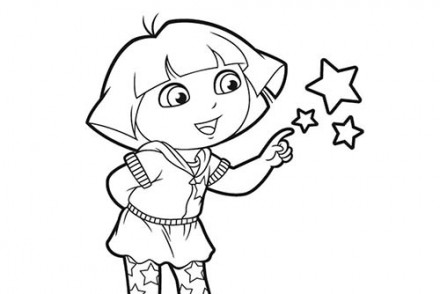 Coloriage-DORA-Coloriage-de-Dora-et-ses-amies-les-etoiles.jpg