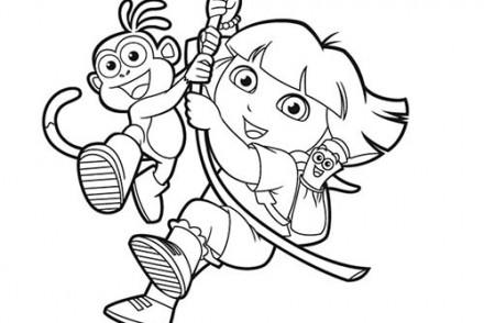 Coloriage-DORA-Coloriage-de-Dora-imitant-Tarzan.jpg
