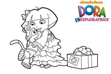 Coloriage-DORA-Coloriage-du-cadeau-de-Dora-pour-Babouche.jpg