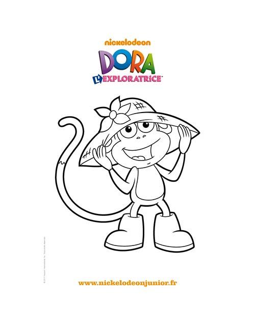 Coloriage-DORA-Coloriage-gratuit-BABOUCHE-et-son-chapeau.jpg