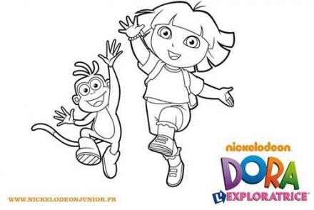 Coloriage-DORA-Dora-et-Babouche-sautent-de-joie.jpg