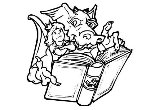 Coloriage dragon coloriage d 39 un dragon conteur d 39 histoires - Dessin d un dragon ...