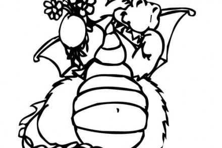 Coloriage-DRAGON-Coloriage-dun-dragon-offrant-des-fleurs.jpg