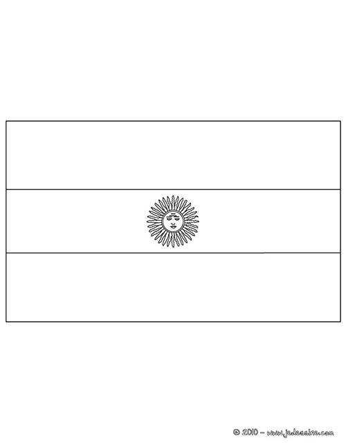Coloriage drapeaux equipes de foot coloriage du drapeau d 39 argentine - Drapeau argentine coloriage ...