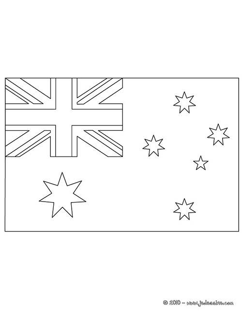 Coloriage drapeaux equipes de foot coloriage du drapeau d 39 australie - Drapeau argentine coloriage ...
