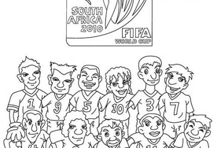 Coloriage football coloriage d 39 un stade de foot - Dessin equipe de foot ...