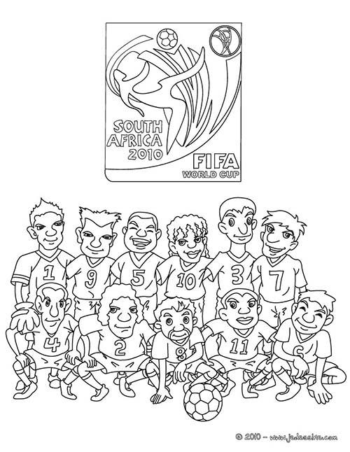 Coloriage equipes de foot coloriage equipe foot france - Dessin equipe de foot ...