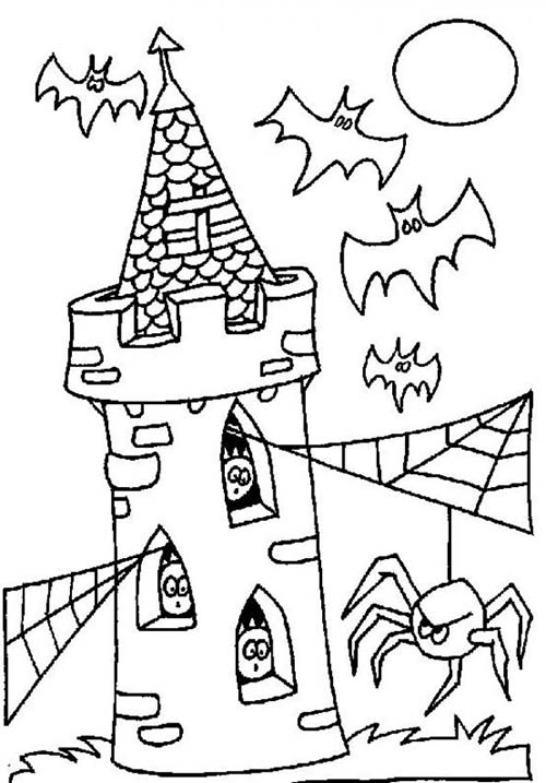 coloriage fantome halloween coloriage de la tour des fantomes. Black Bedroom Furniture Sets. Home Design Ideas
