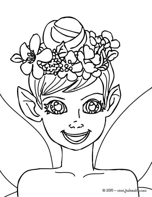 Coloriage fee petite fille elfe a imprimer - Coloriage elfe ...