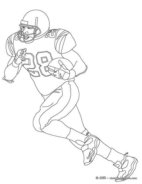 Coloriage football americain joueur de football americain - Dessin de joueur de rugby ...